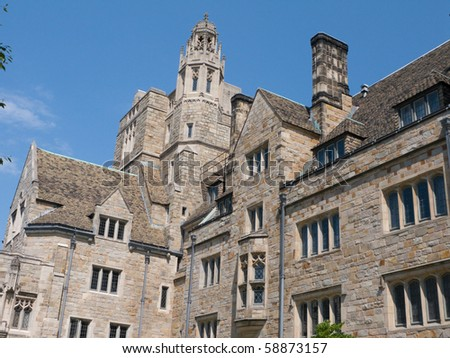 Campus in Yale University. - stock photo