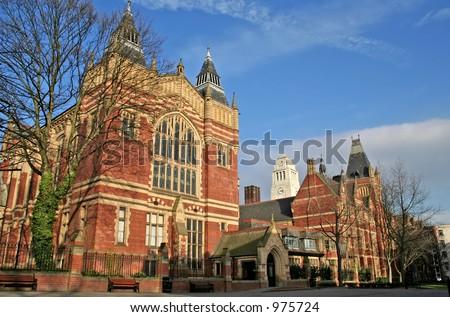 Campus of University of Leeds, UK - stock photo
