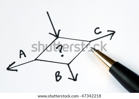 Can not decide which way to go? - stock photo