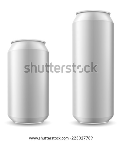 can of beer illustration isolated on white background
