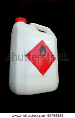 Can of flammable liquid - stock photo