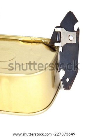 can opener on a white background - stock photo