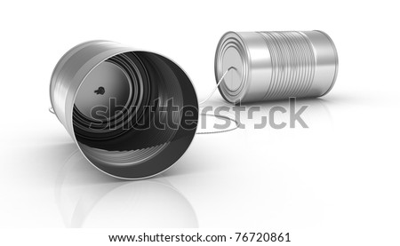 Can Phone - stock photo