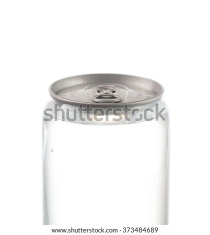 can plastic with aluminum of water isolated on white background