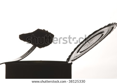 Can silhouette - stock photo
