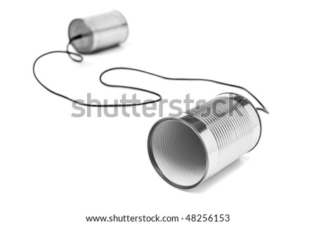 Can telephone - stock photo