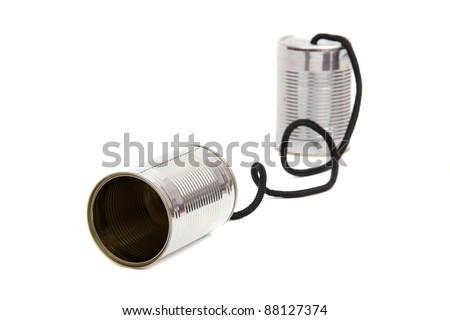 can telephones - stock photo