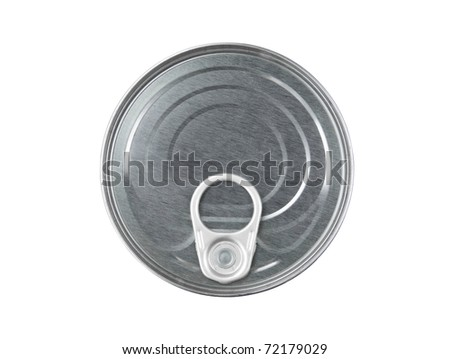 Can top with opener isolated on white - stock photo