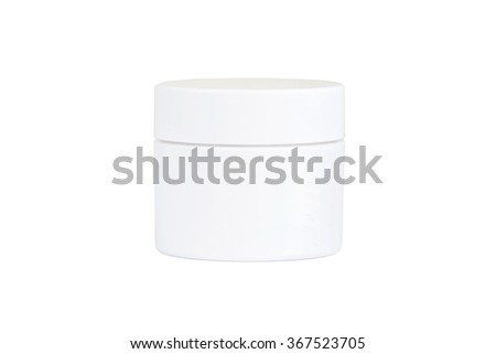 Can with a face cream, isolated on white background - stock photo