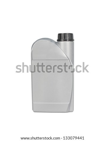 Can with car engine oil isolated - stock photo