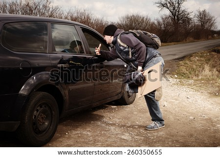 Can you take me with you? - stock photo