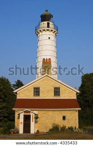 Cana Island Light House with Living Quarters - stock photo