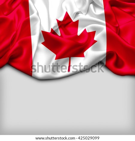 Canada Abstract flag and Plain background - stock photo