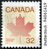 CANADA - CIRCA 1982: A stamp printed in Canada shows Maple Leaf, a symbol of Canada, circa 1982 - stock photo