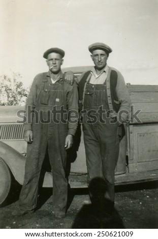 CANADA - CIRCA 1940s: Reproduction of an antique photo shows  - stock photo