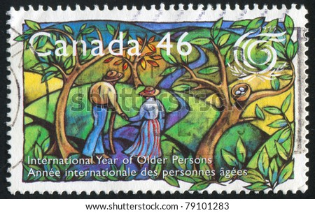 CANADA - CIRCA 1999: stamp printed by Canada, shows Intl. Year of Older Persons, circa 1999
