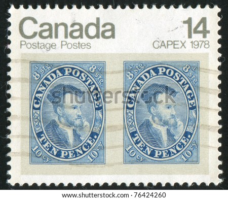 CANADA - CIRCA 1978: stamp printed by Canada, shows Jacques Cartier, circa 1978