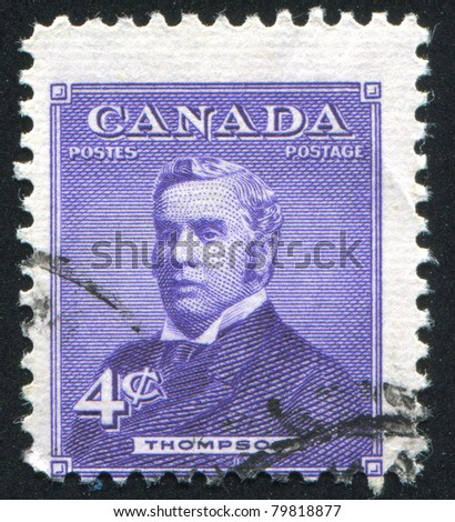 CANADA - CIRCA 1954: stamp printed by Canada, shows Sir John Sparrow David Thompson, circa 1954