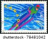 CANADA - CIRCA 1992: stamp printed by Canada, shows Ski jumping, circa 1992 - stock photo