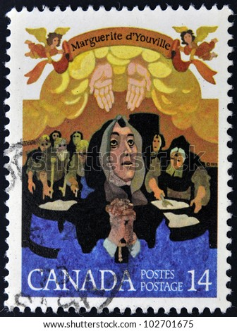 CANADA - CIRCA 1978: stamp printed  Canada shows Mere Youville, circa 1978