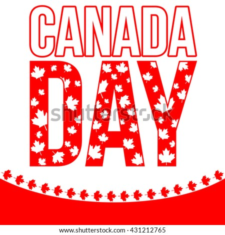 Canada day celebration design