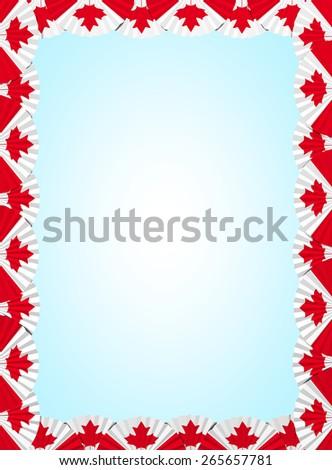 Canada fan folding ribbon background - stock photo