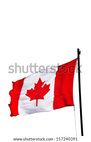 Canada flag isolated on white background - stock photo