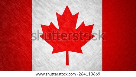 Canada flag leather texture - stock photo