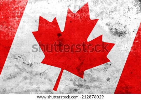 Canada Flag with a vintage and old look - stock photo