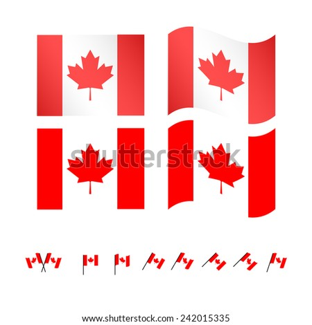 Canada Flags - stock photo