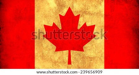 Canada grunge flag - stock photo