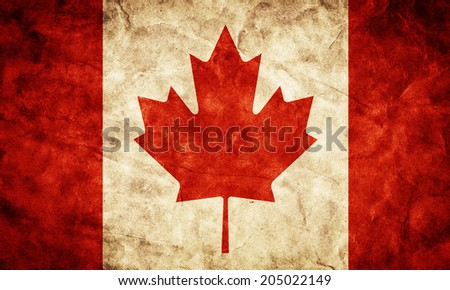 Canada grunge flag. Vintage, retro style. High resolution, hd quality. Item from my grunge flags collection. - stock photo