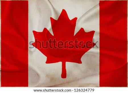 Canada grunge waving flag - stock photo