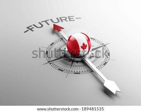 Canada High Resolution Future Concept - stock photo