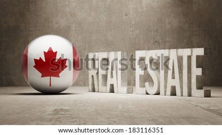 Canada High Resolution Real Estate Concept - stock photo