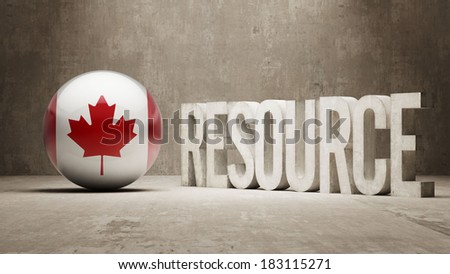 Canada High Resolution Resource Concept - stock photo