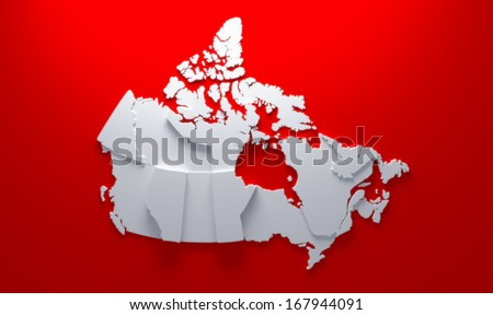 Canada map - stock photo