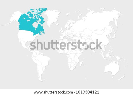 Canada map illustration world map set ilustracin en stock canada map illustration world map set gumiabroncs Image collections