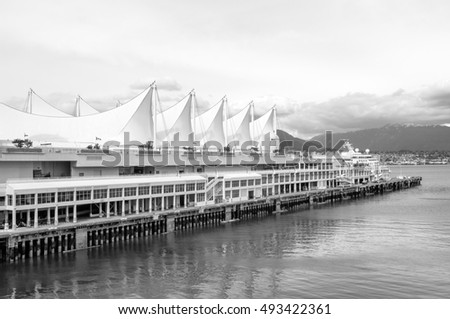Canada Place, the cruise ship terminal and convention center, Vancouver, Canada