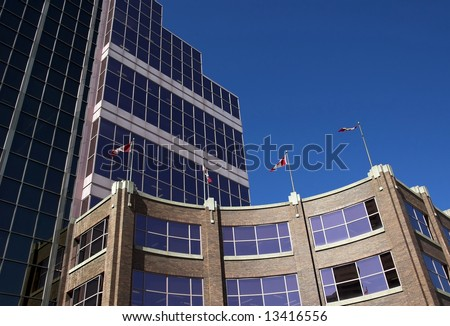 Canada Place, the federal Building in Edmonton Alberta - stock photo