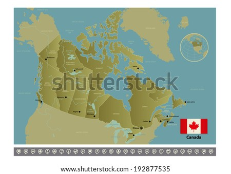 Canada. Raster copy of vector file. - stock photo