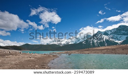Canada's National Park in Alberta's Rocky Mountain - stock photo