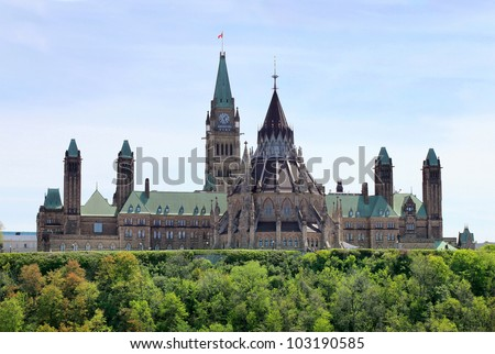 Canada's Parliament Buildings - stock photo
