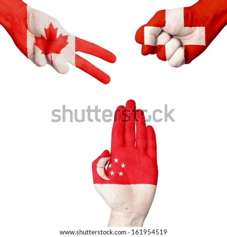 Canada Switzerland Singapore rock-paper-scissors.