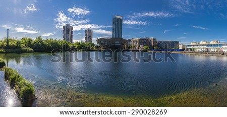 Canada Water , London Panorama - stock photo