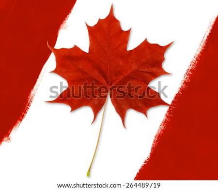 Canadian Flag Diagonal - stock photo
