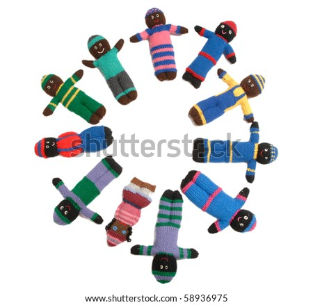 Canadian home made dolls for African children. - stock photo