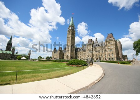 Canadian House of Parliament, Ottawa, Canada - stock photo