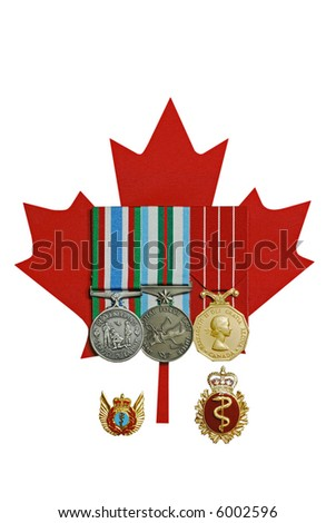 Canadian Medals - stock photo