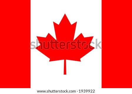 Canadian national flag - stock photo